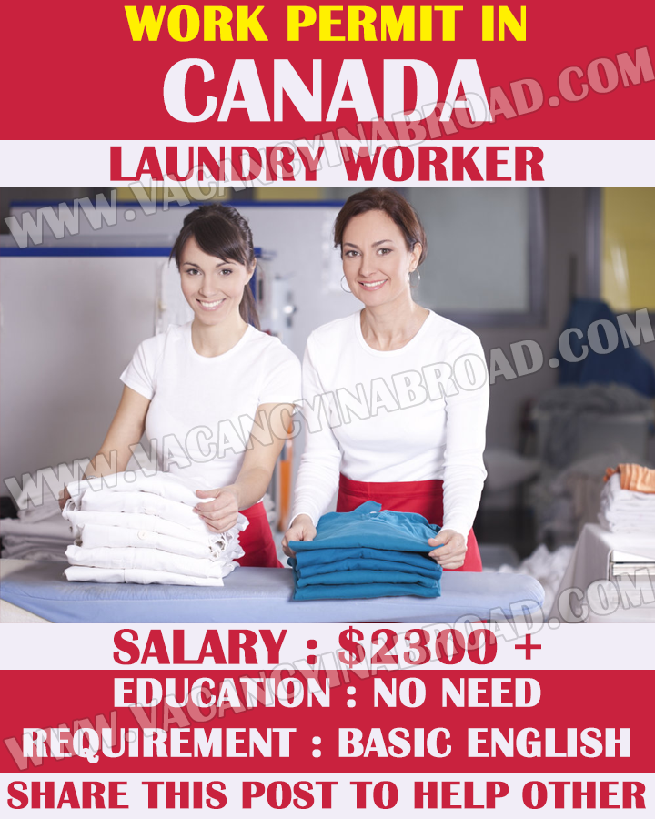 Laundry Workers Hiring in Canada