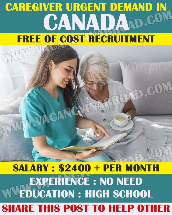 Caregiver Job Open in Canada