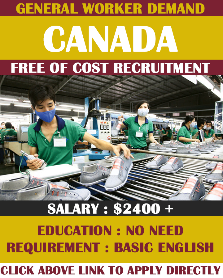General Workers Job in Canada