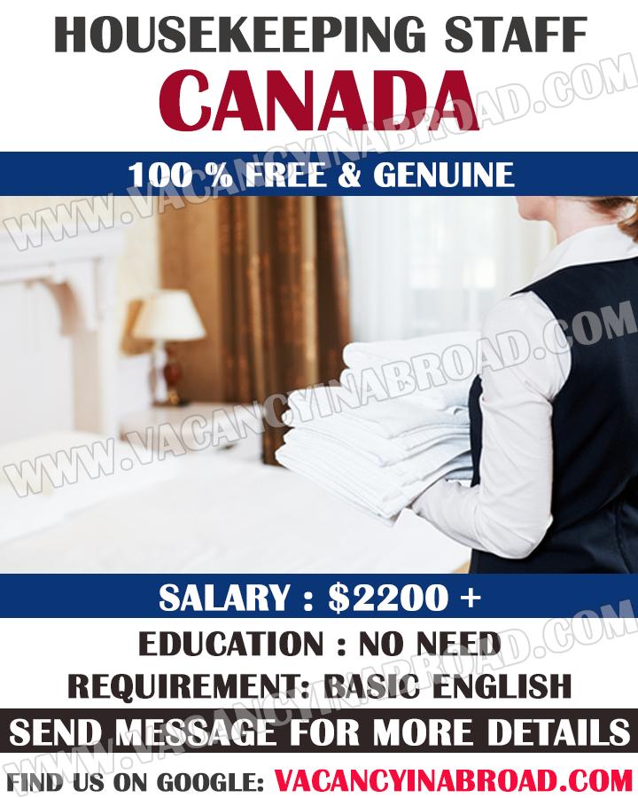 Housekeeping Staff Demand in Canada