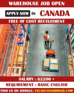 Warehouse Job in Canada